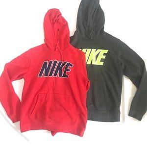 Nike Hooded Sweatshirt Lot Size Medium Red Gray